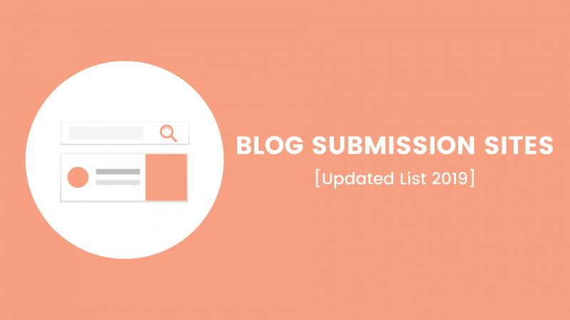 Blog Submission Websites List