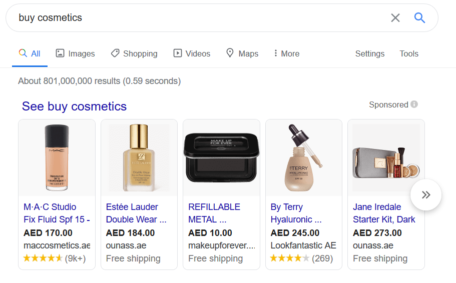 Search Engine's search intent